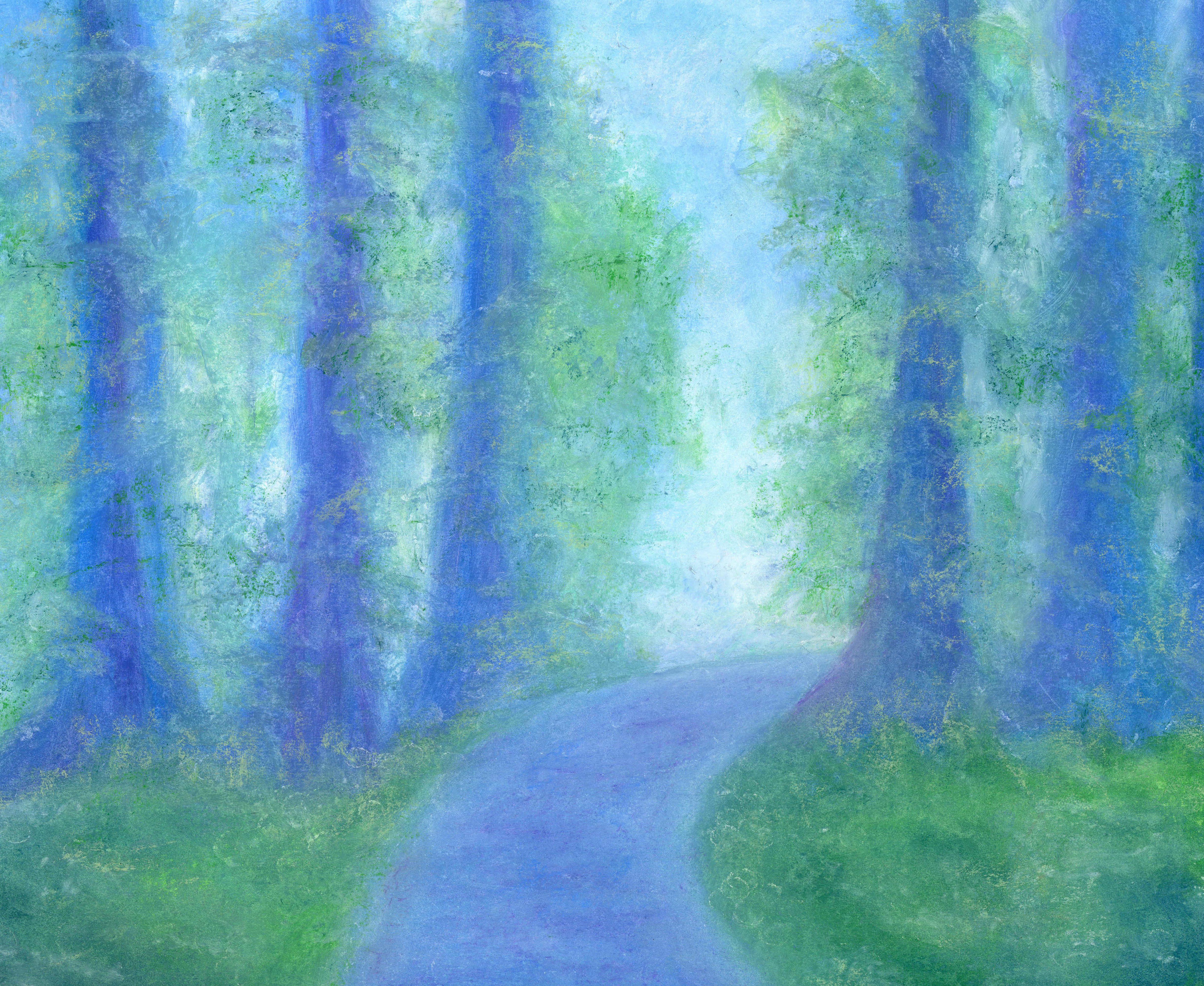 A Walk in the Woods - Oil Pastel 14 X 17 $170