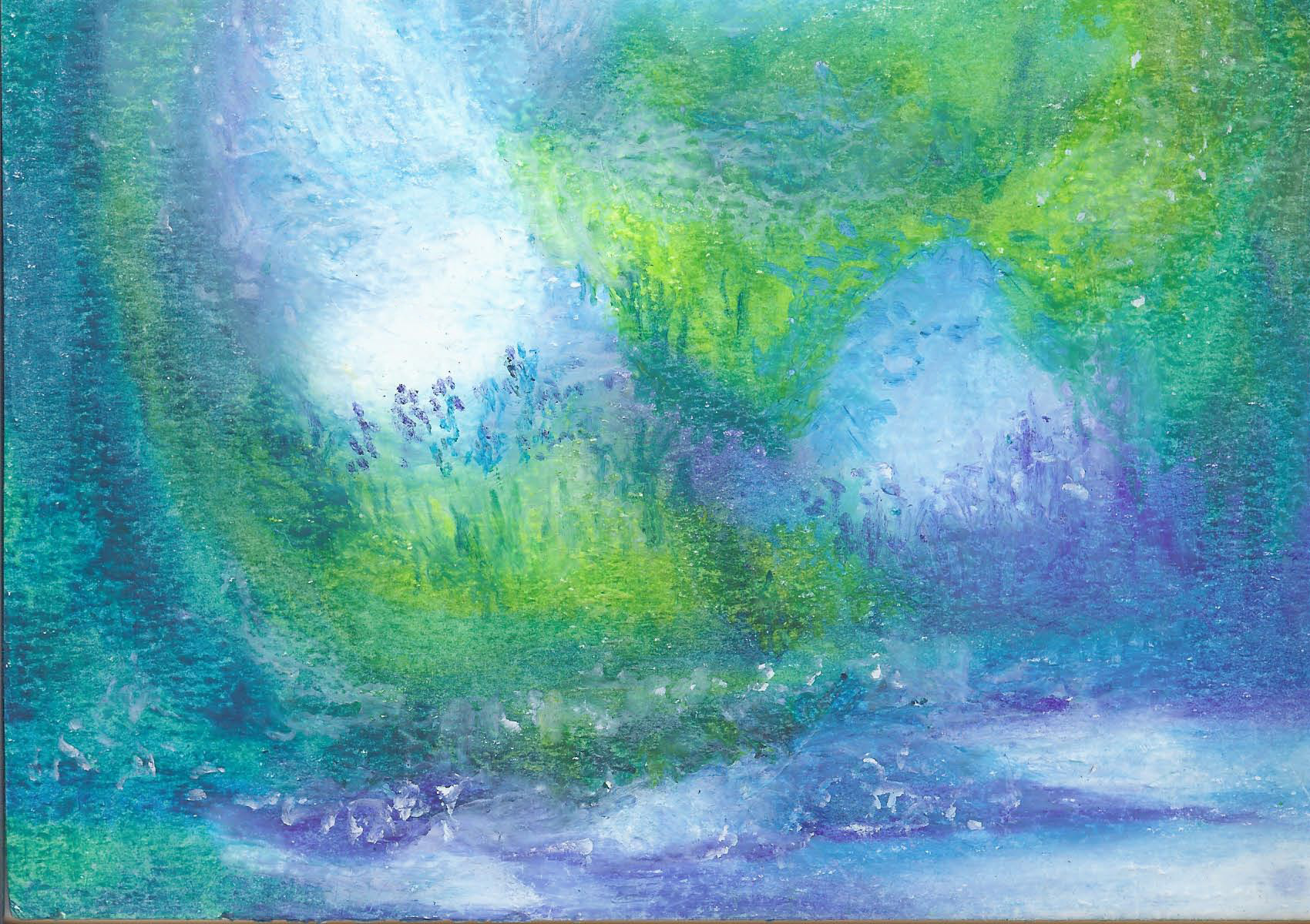 Fairy Land - Oil Pastel 8 X 9 - $85