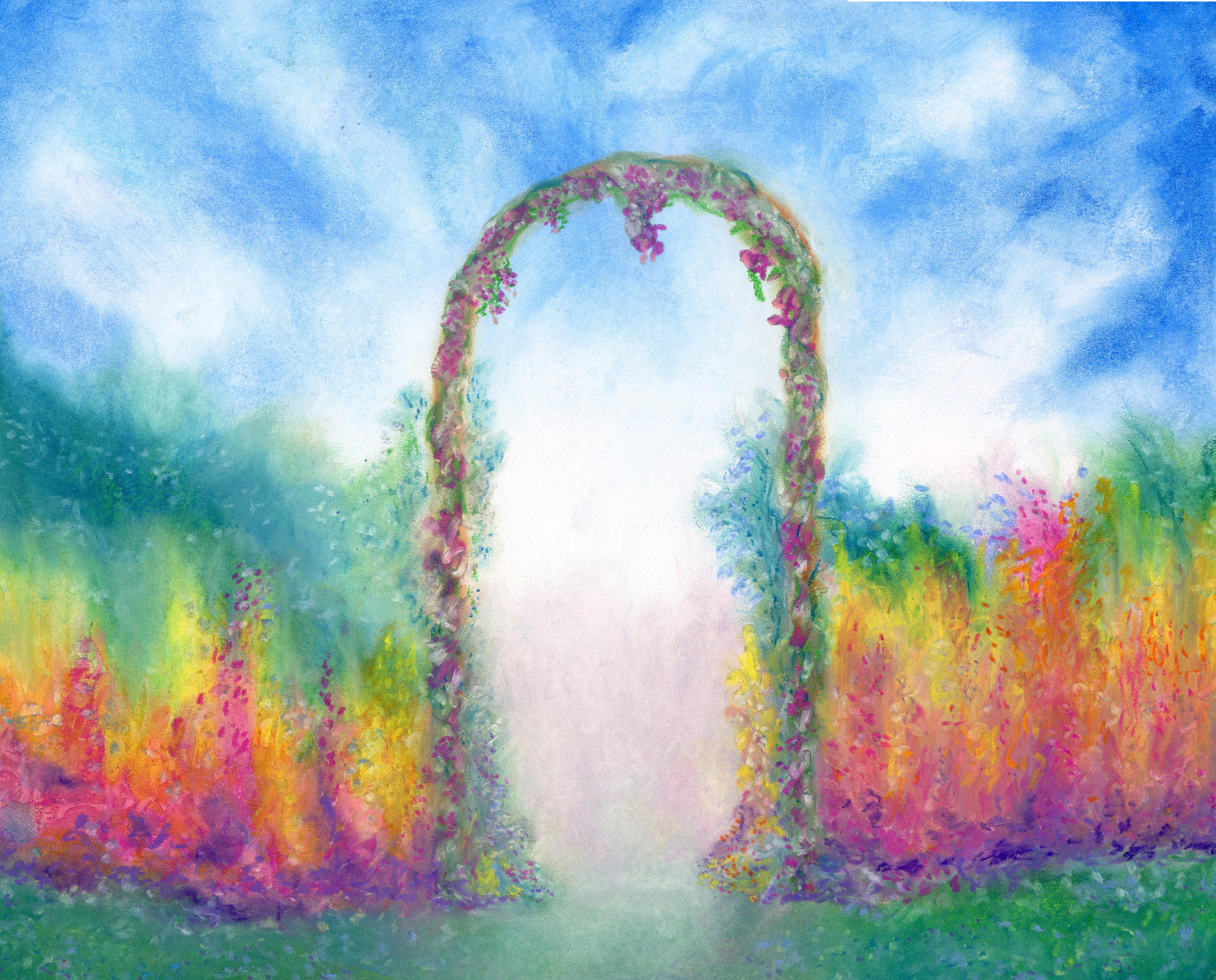 Garden Gate - Oil Pastel 14 X 17 $170