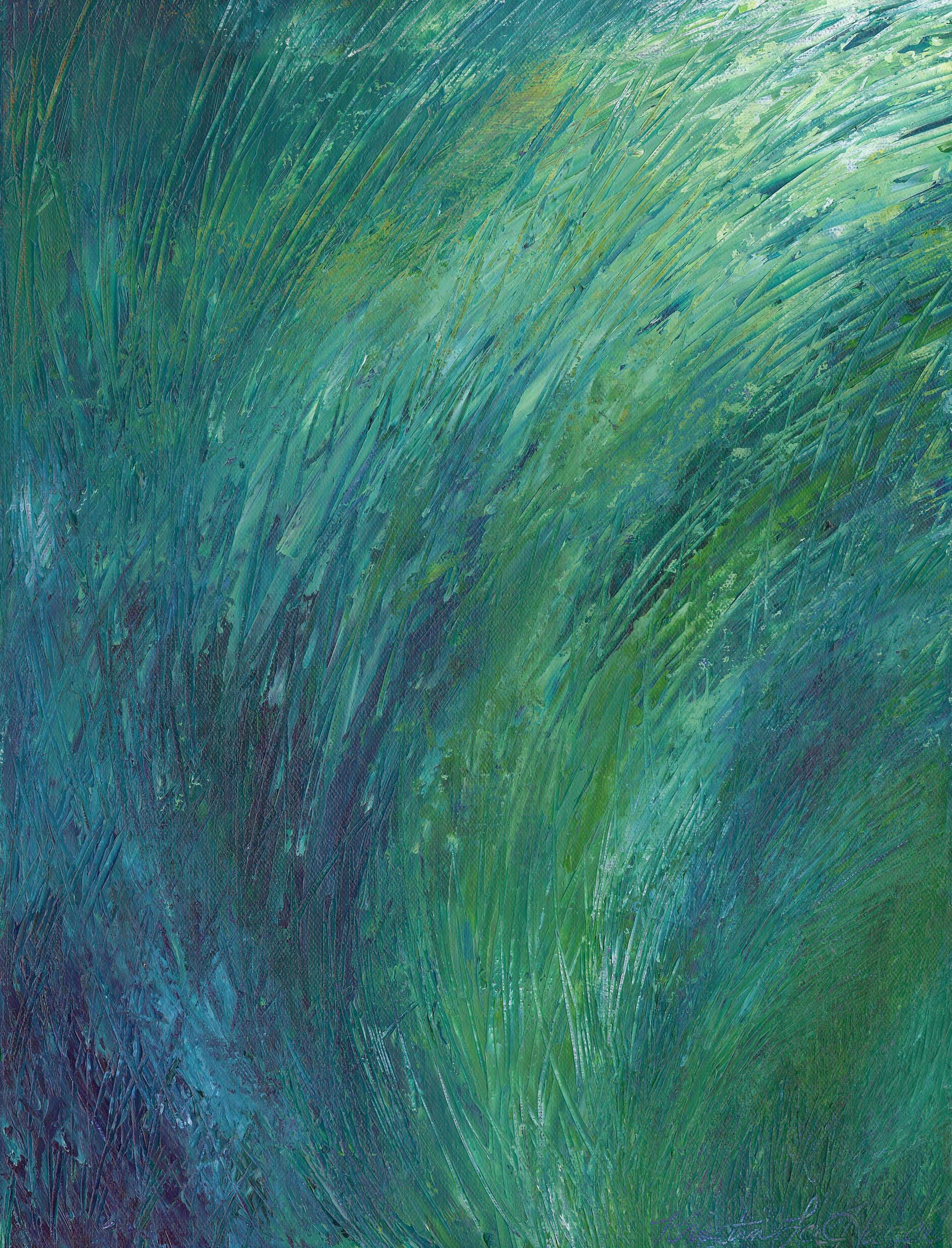 Grassy - Acrylic 12 X 16 - $175