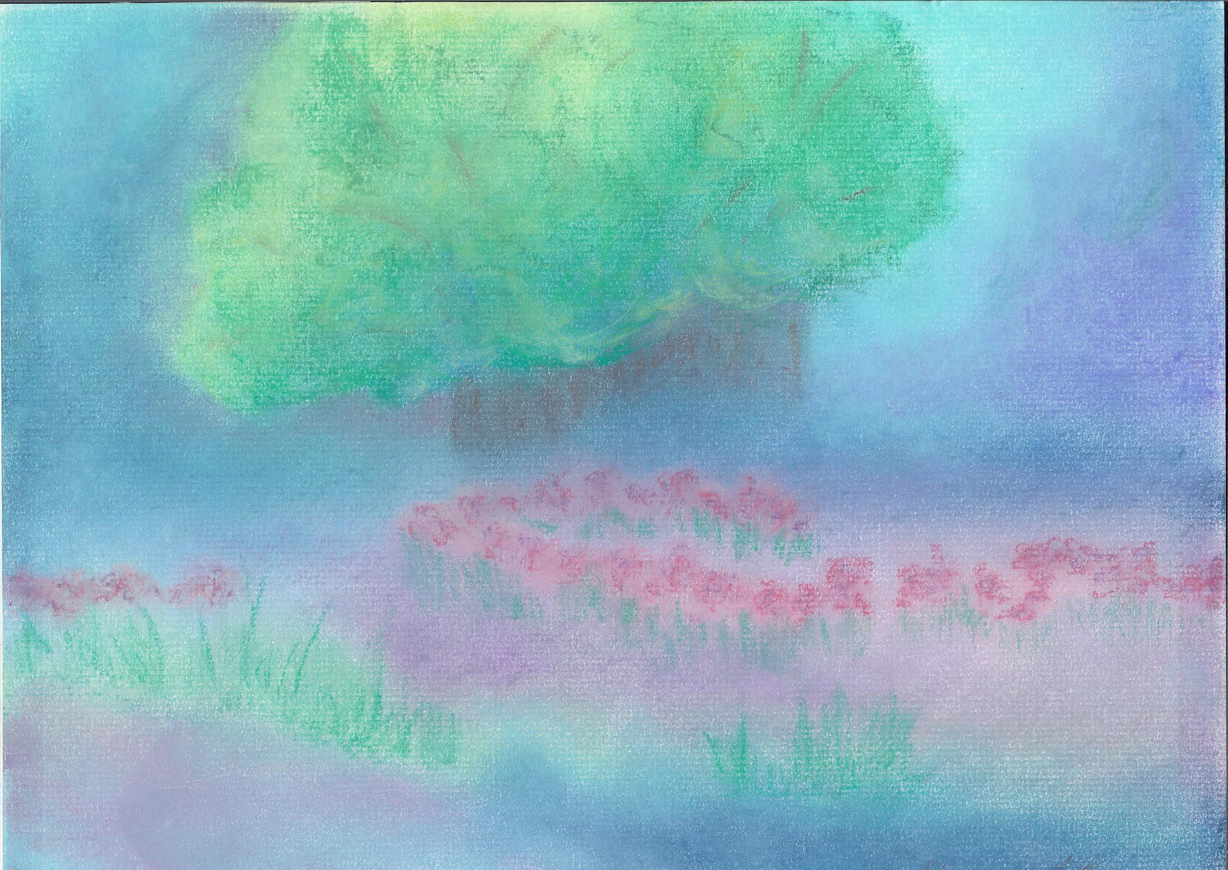 Iris Meadow - Pastel - 9 X 12 - $140
