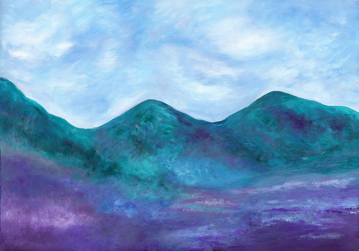Mountains of Spring - Acrylic 20 X 28, $375