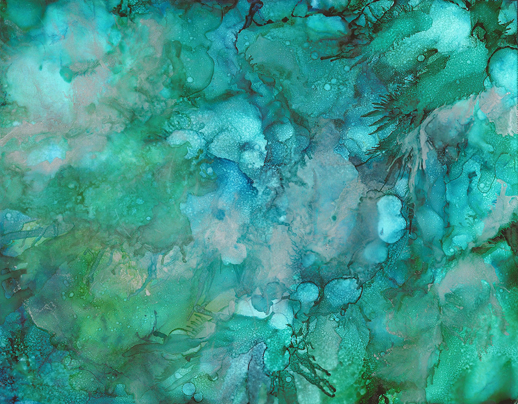 Quick Silver - Alcohol Ink 11x14, $150 - Sold