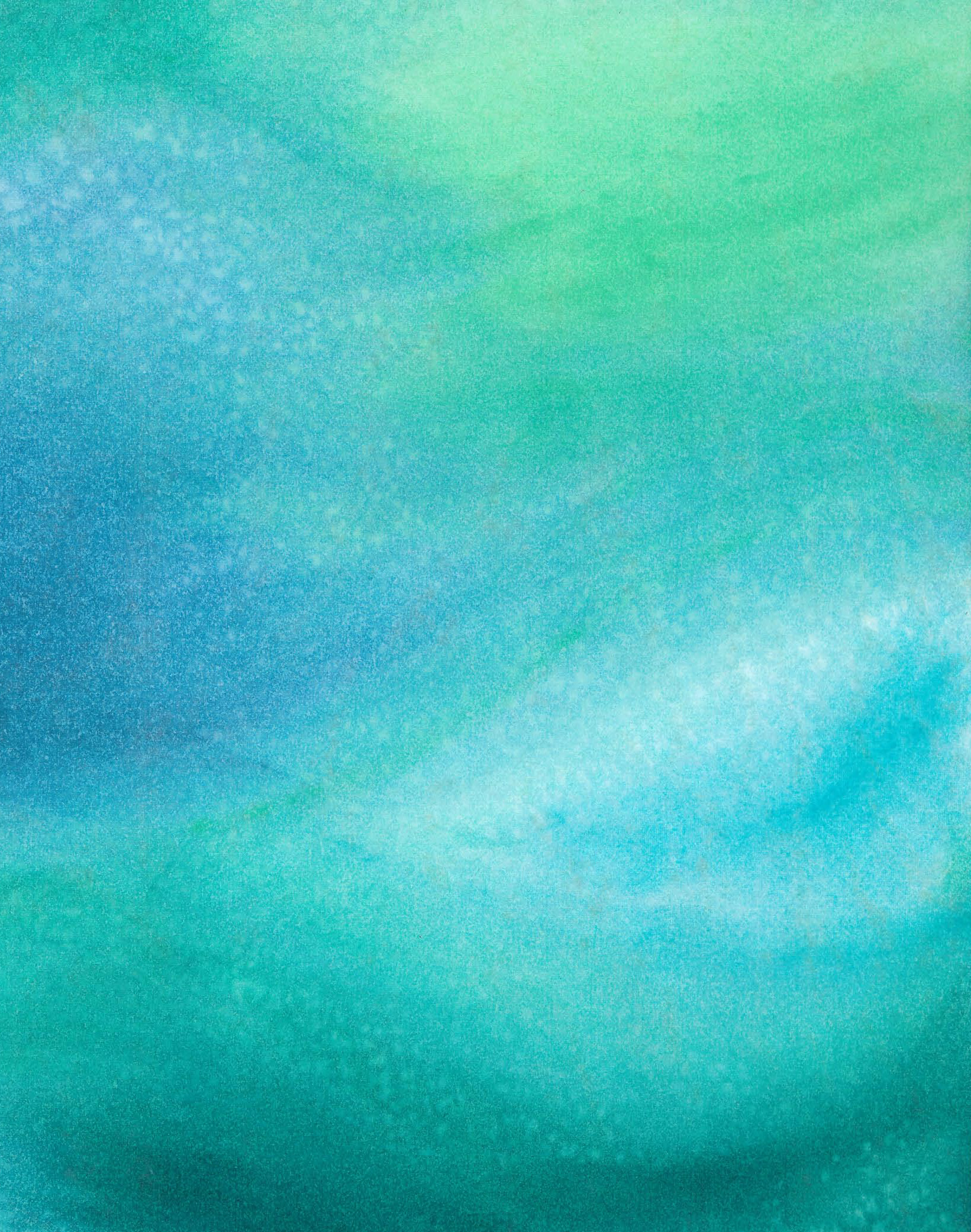 Seafoam - Watercolor - 8 X 11 - Sold - Print Available