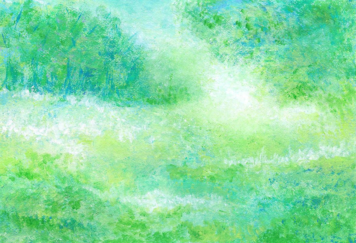 Spring Green - Acrylic - 11 x 14 - $150