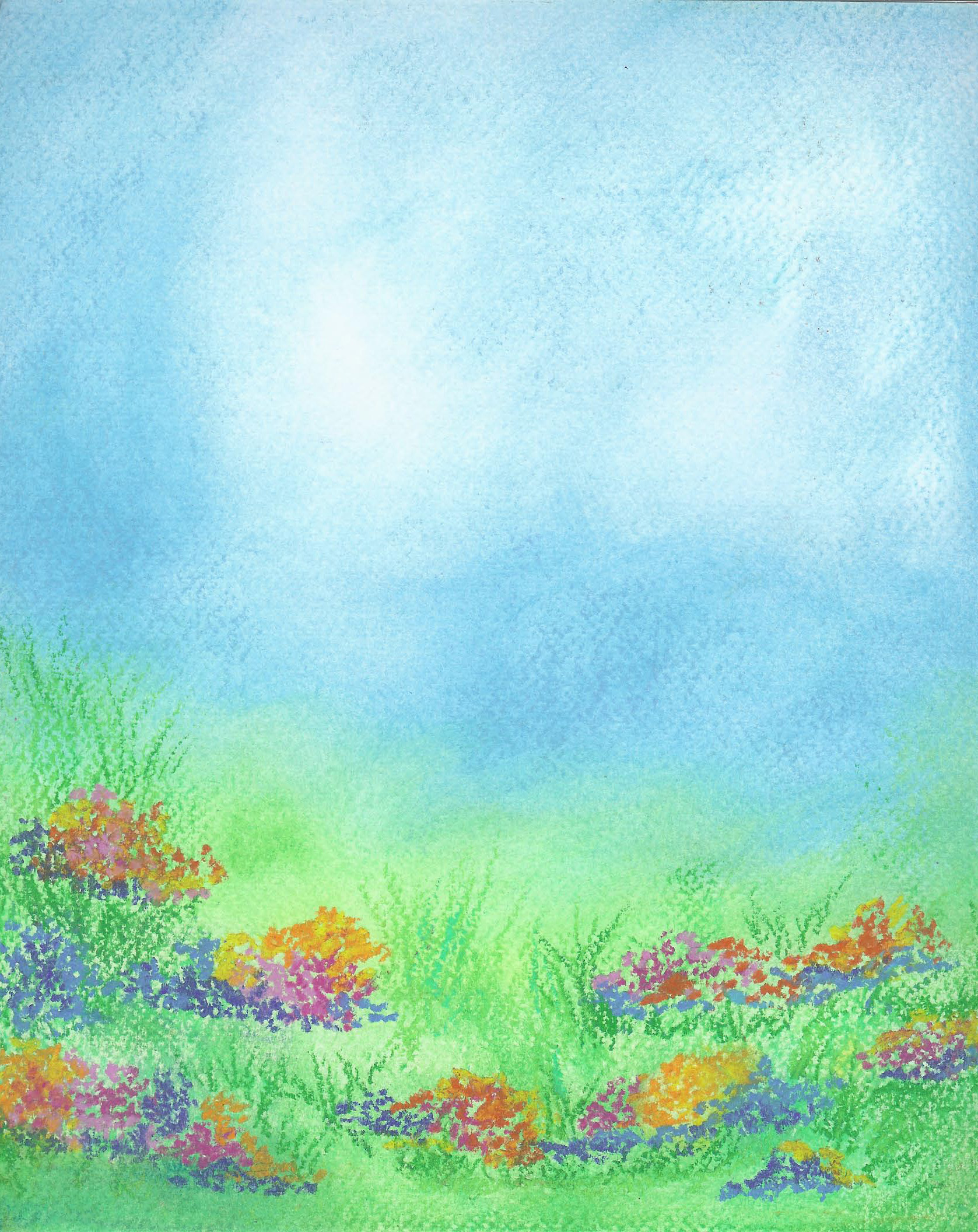 Spring Meadow Oil Pastel 8 X 11- $125
