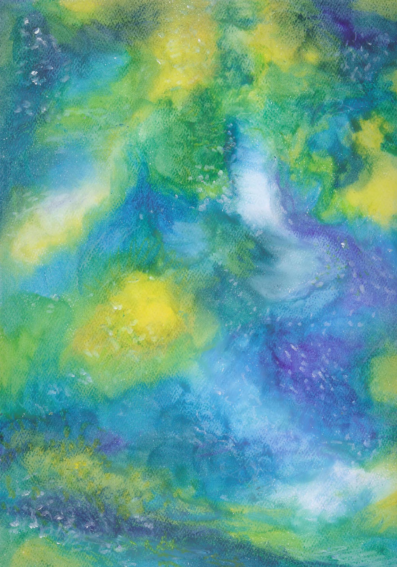 Summer Garden - Oil Pastel - 9 X 12 - $95
