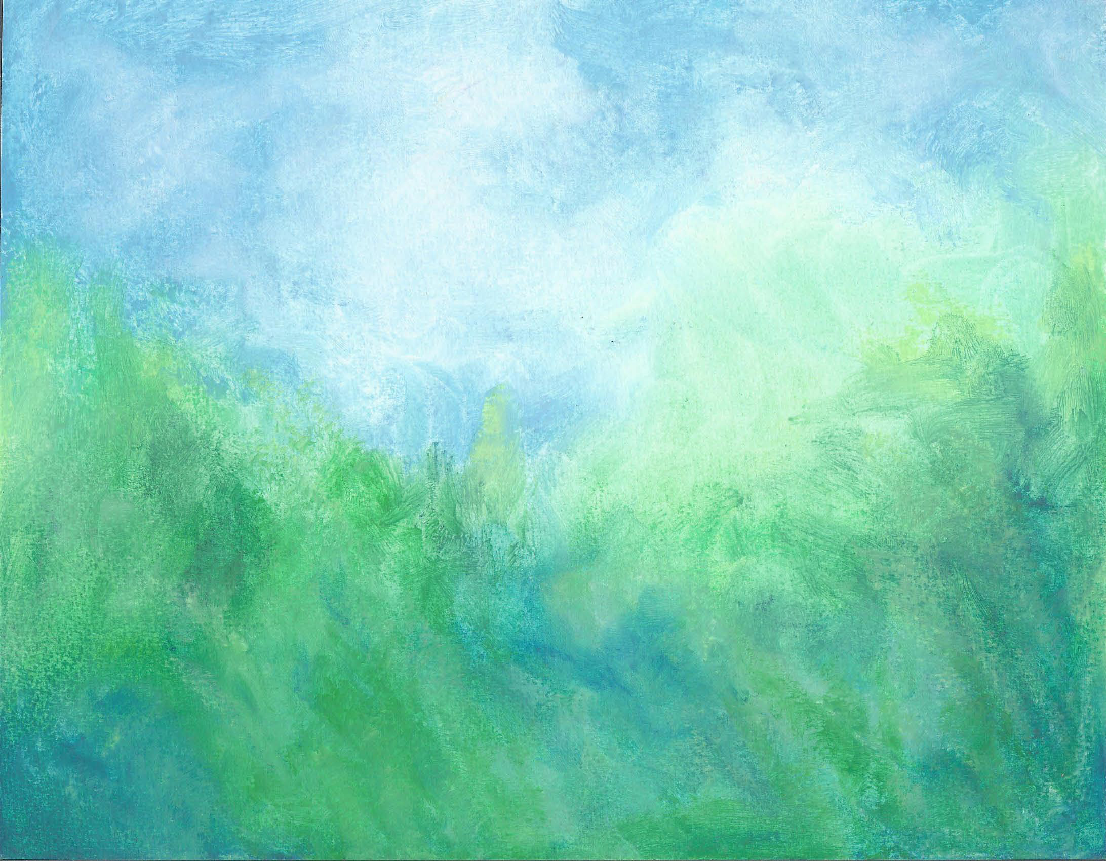 The Wind in the Trees Oil Pastel 8 X 11 - $125
