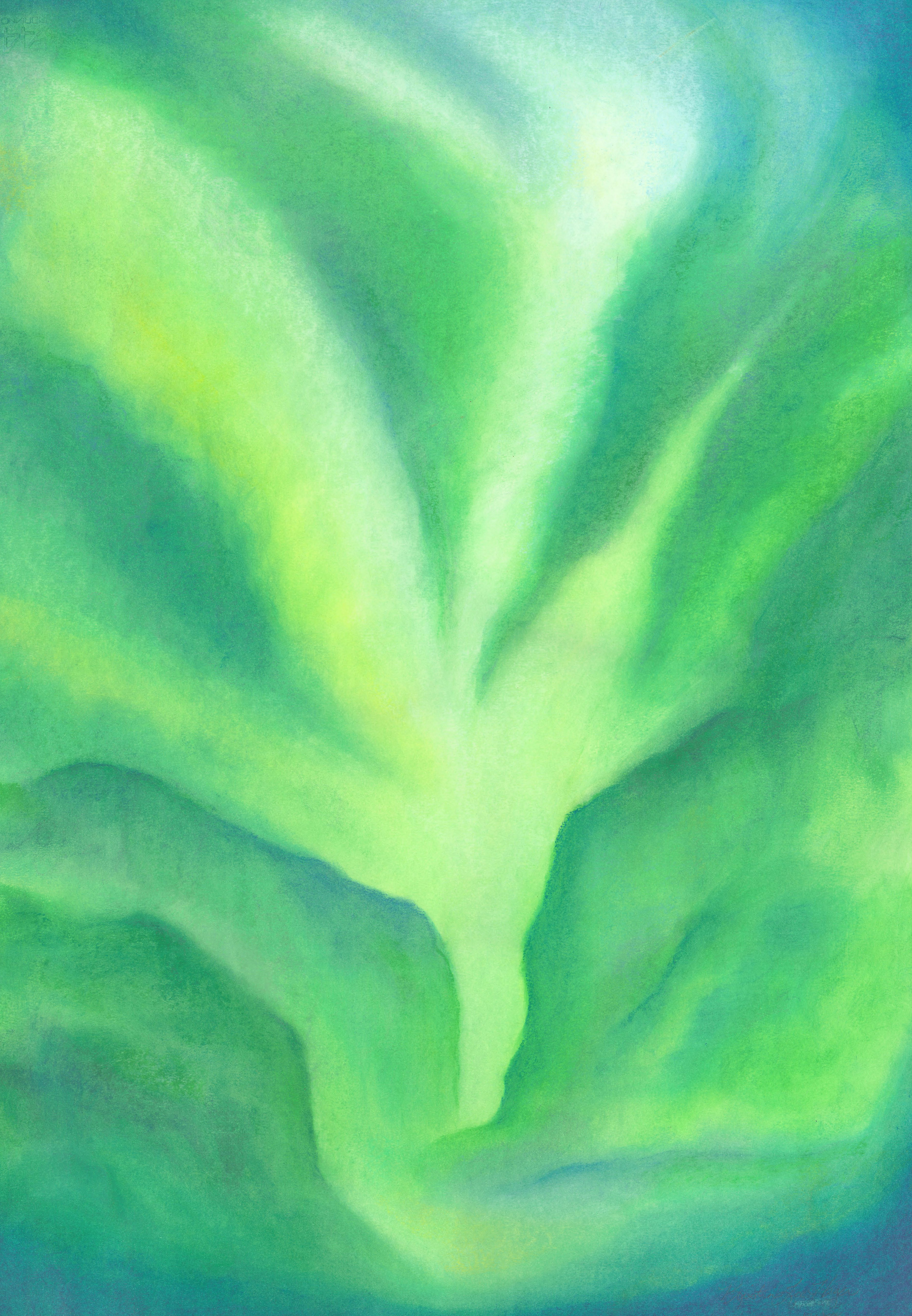 Valley of Green Oil Pastel 24 X 30- $430