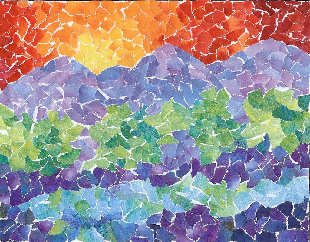 Landscape Paper Mosaic 8 X 11 $150