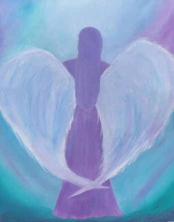 Angel Heart - Acrylic Painting, 16 X 20, $300