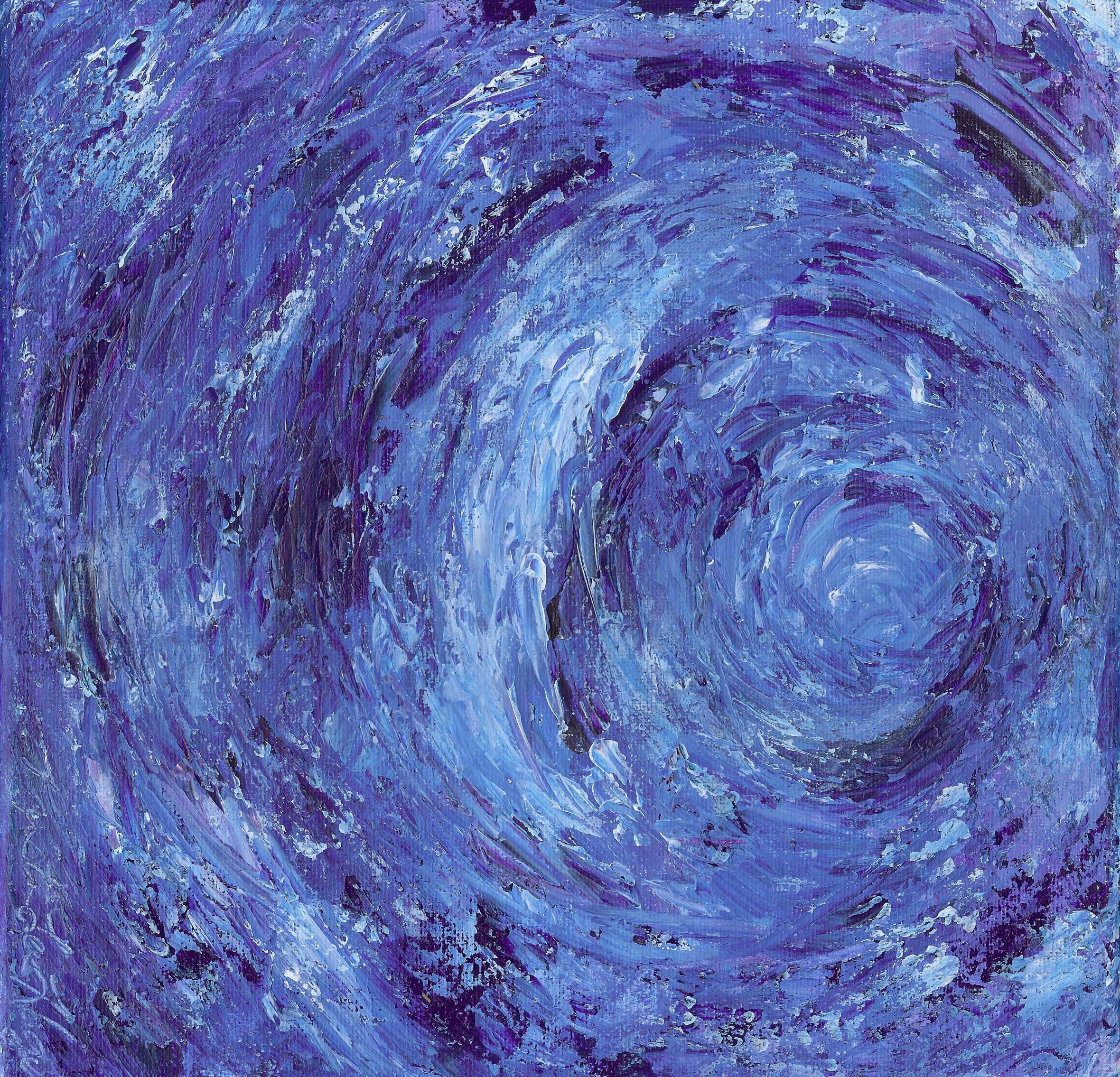 Blue Vortex - Acrylic 12 X 12 - $150