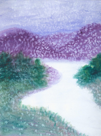 First Snow - Watercolor 8 X 11, $100