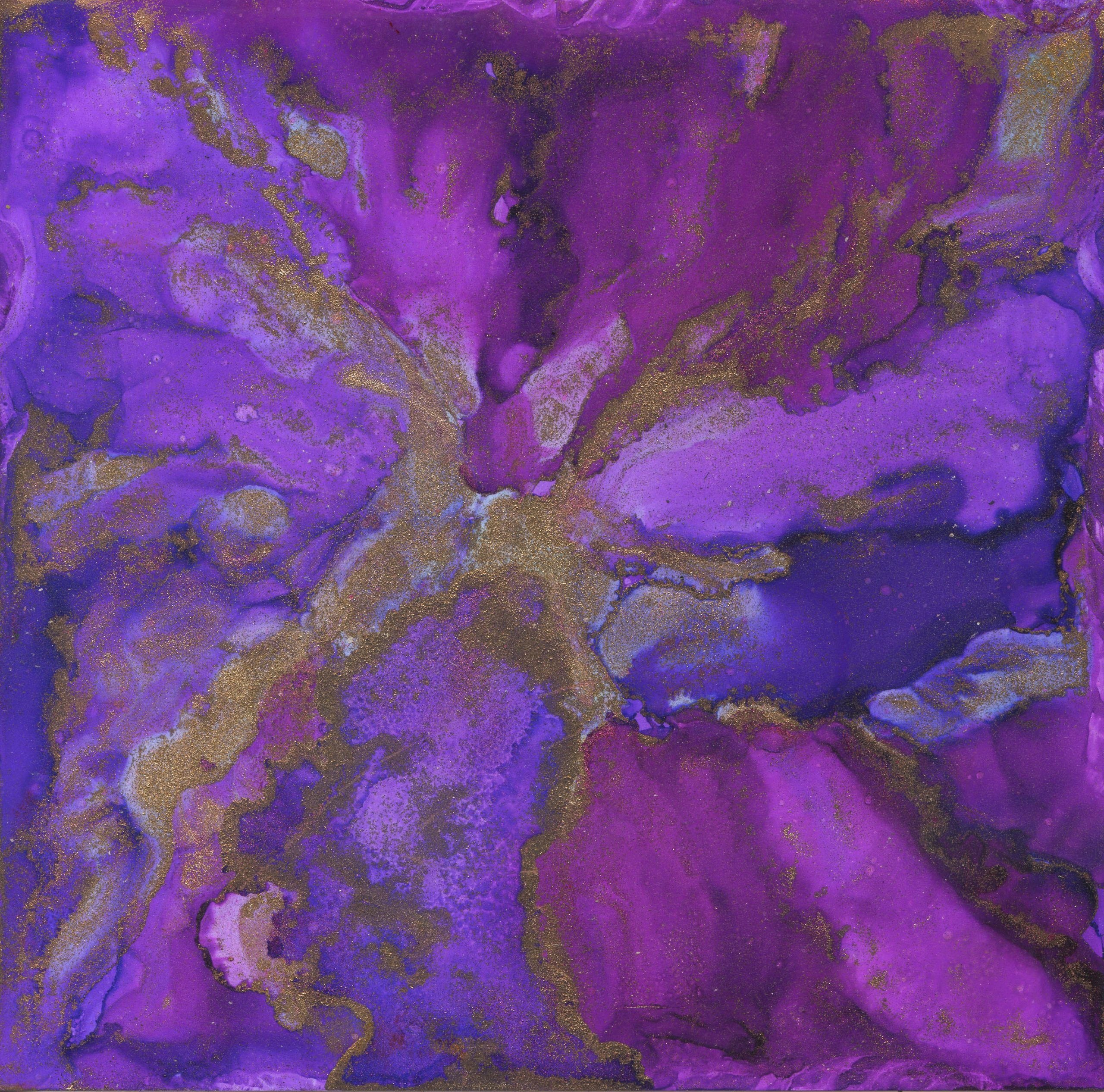 Flowing-Purple-Alcohol-Ink-7-X-7-$100