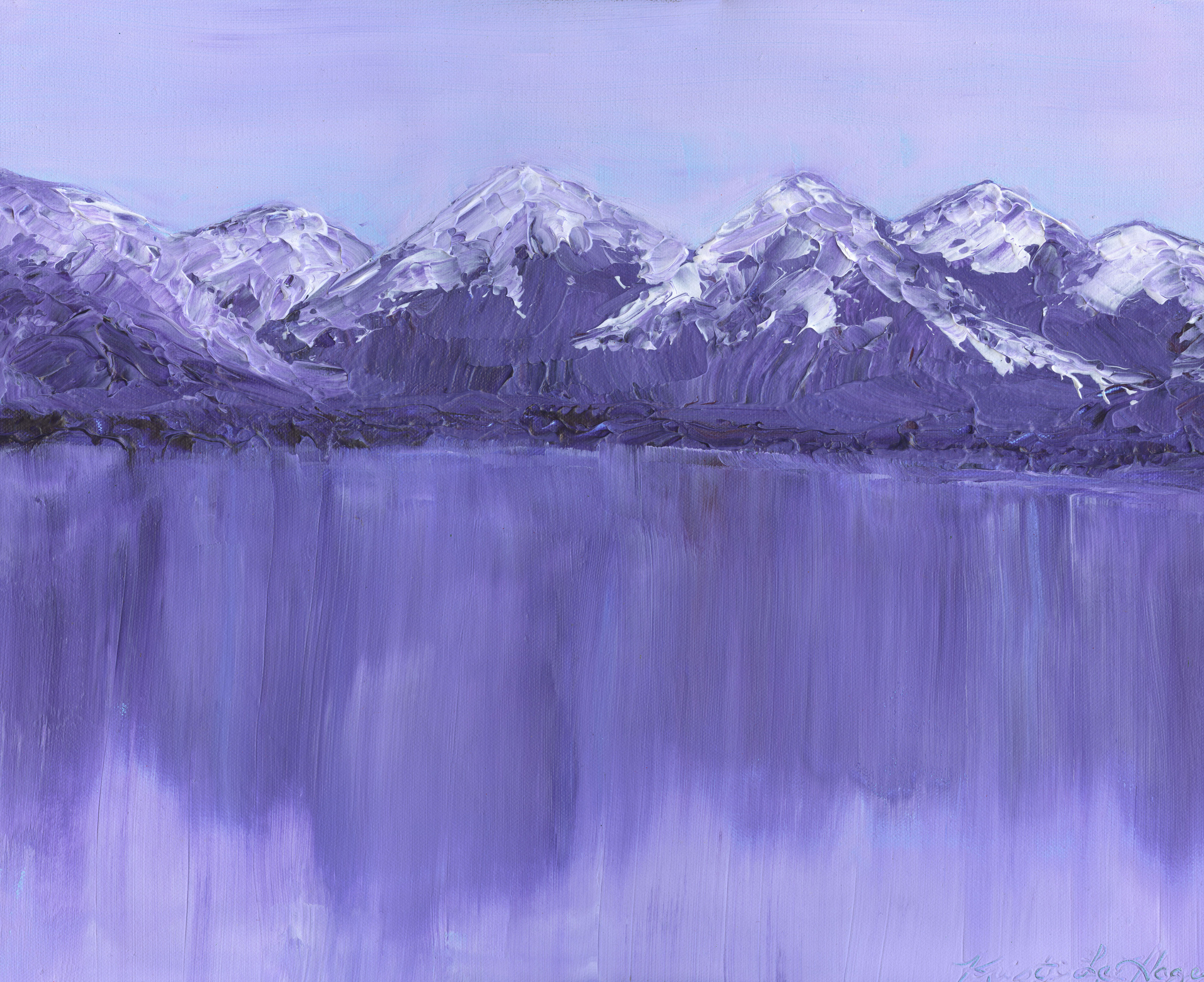 Mirrored Mountains - Acrylic - 16 X 20 - $300