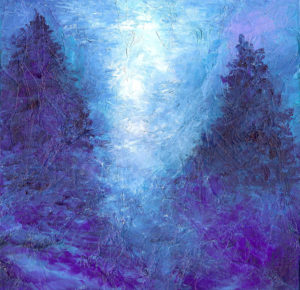Moonlight in the Forest - Acrylic - 12 X 12 - Sold - Print Available