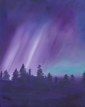 Night Lights - Acrylic 16 X 20 - SOLD