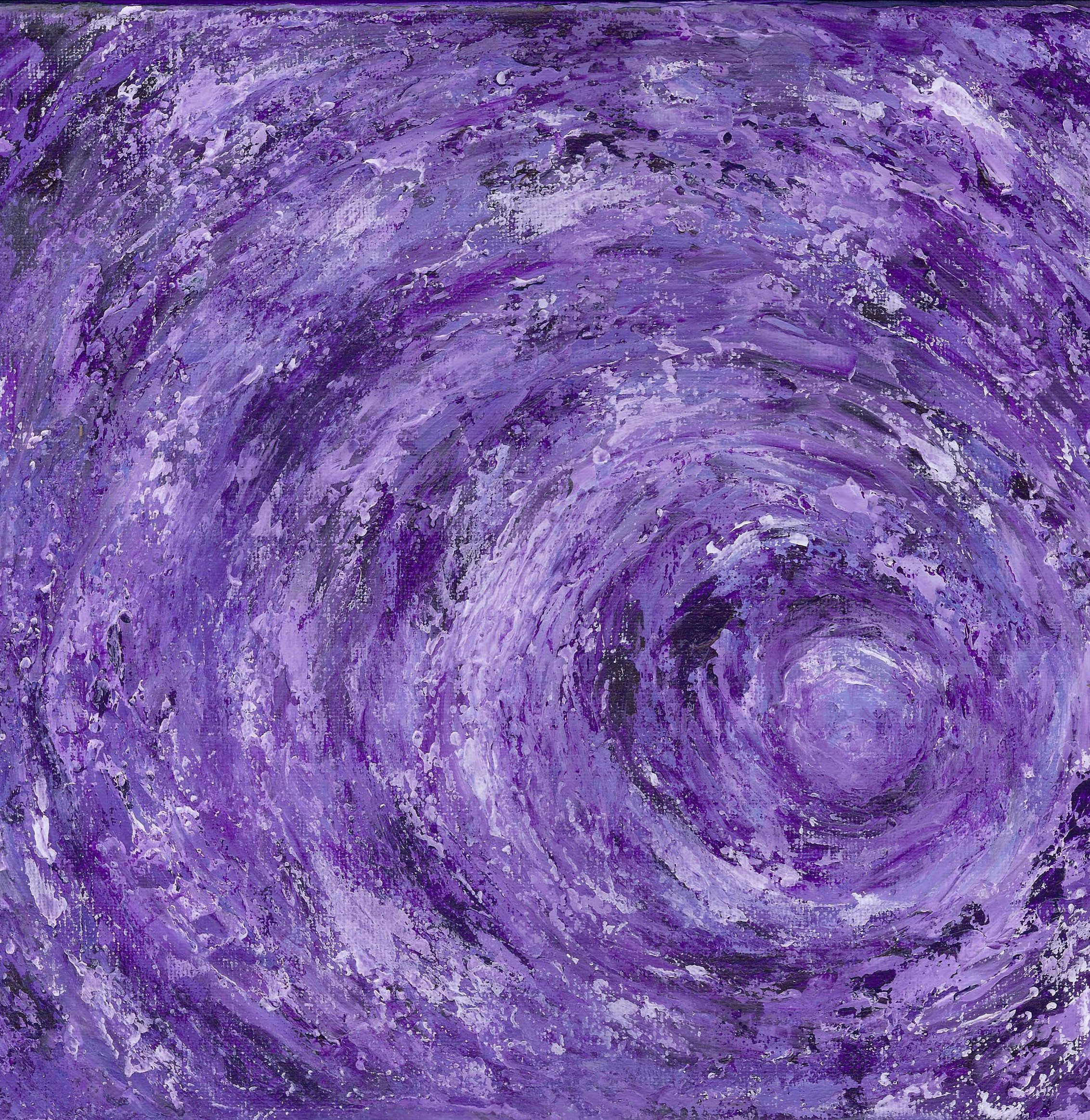 Purple Vortex - Acrylic 12 X 12 - $150
