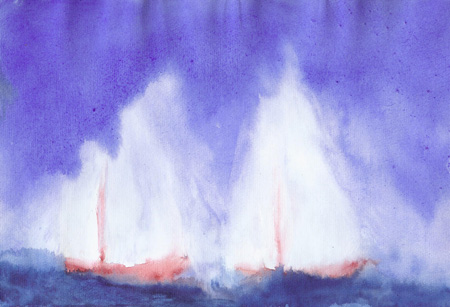 Sailing - Watercolor 8 X 12 - Sold
