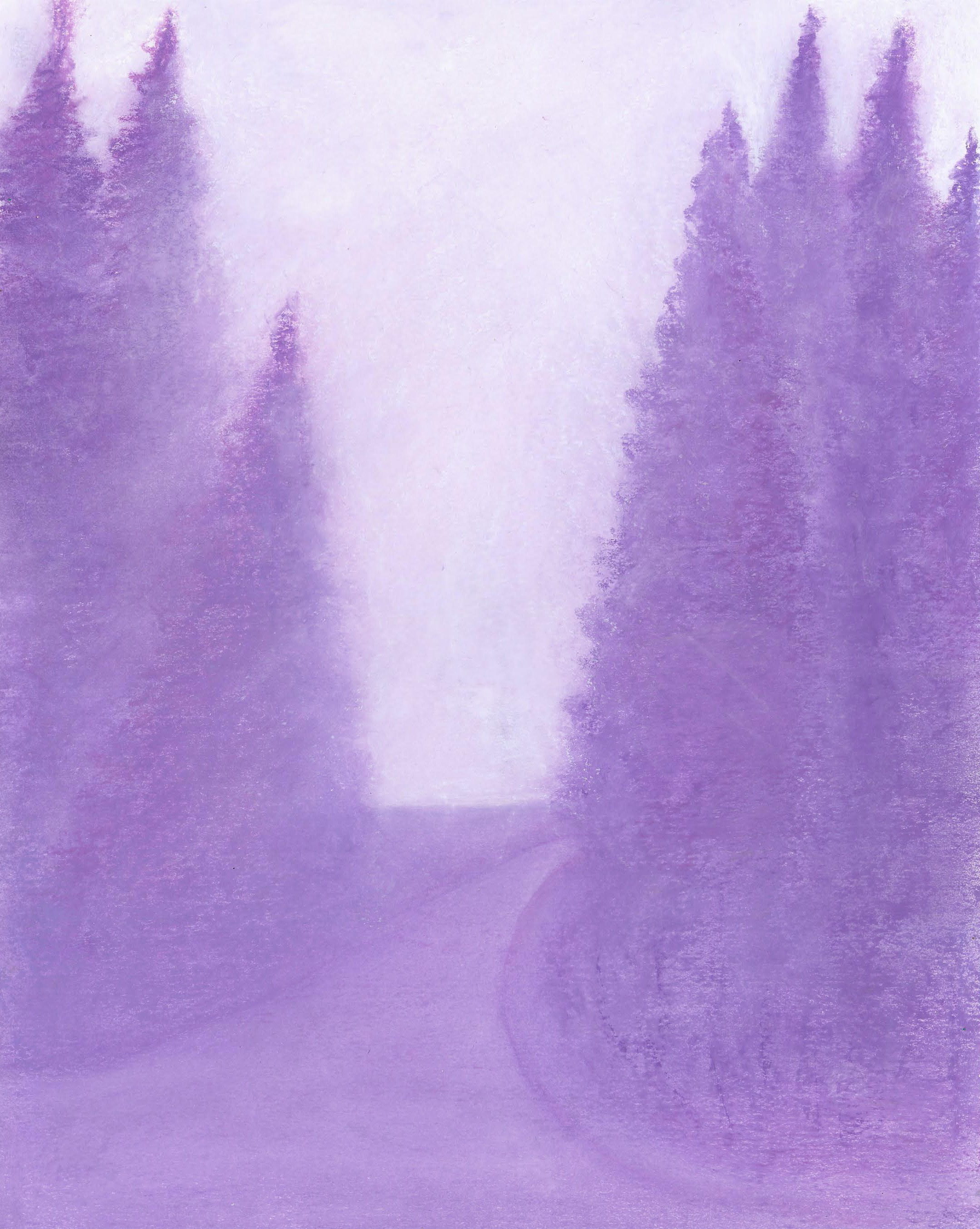 Snowy Winter - Oil Pastel 11 X 14 - $200