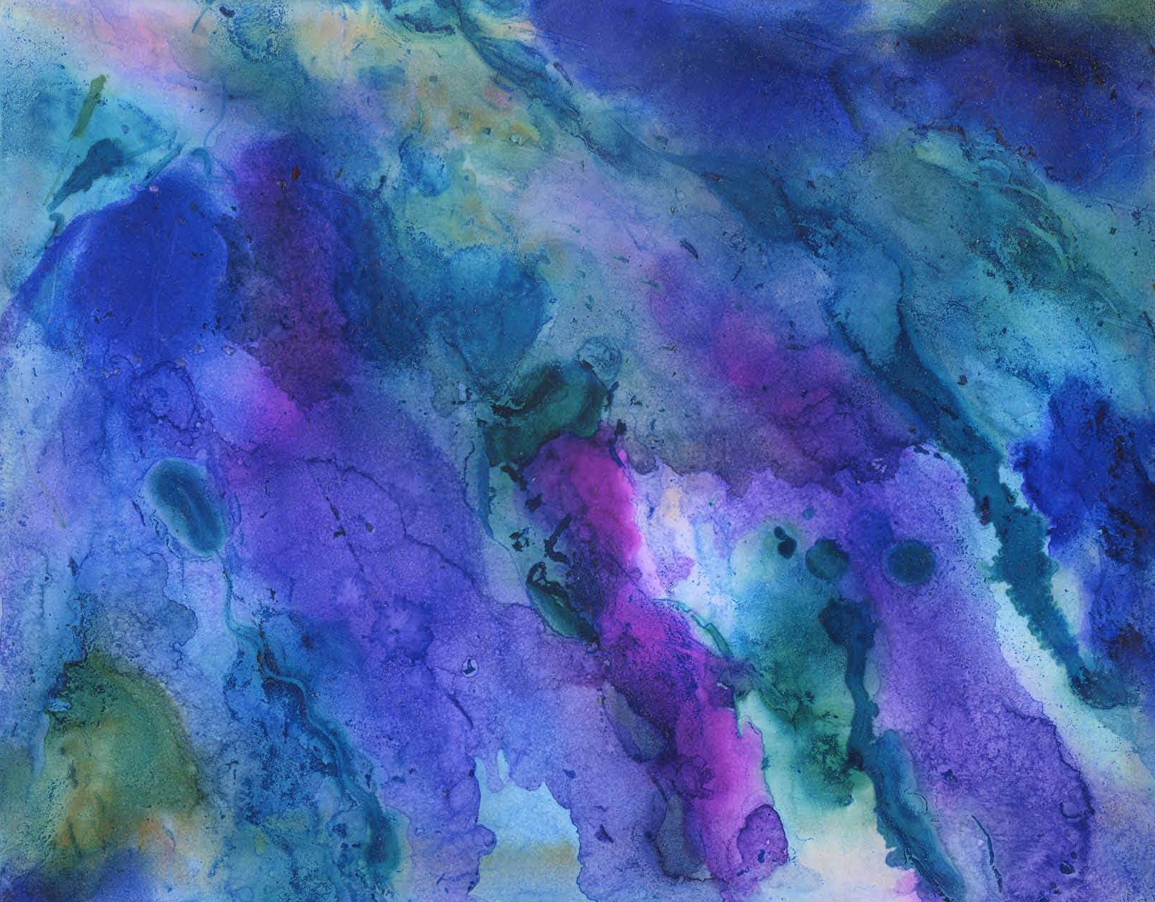 Stormy Sky - Alcohol Ink 4 X 5 - $40