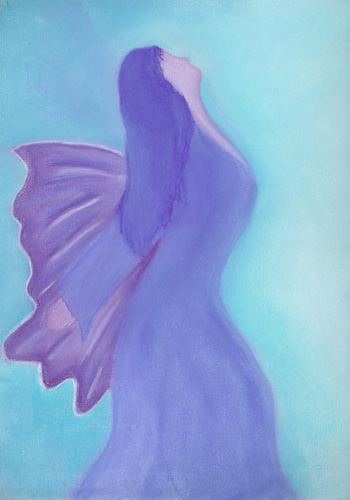 Surrender to Thyself - Pastel 9 X 12 - $90