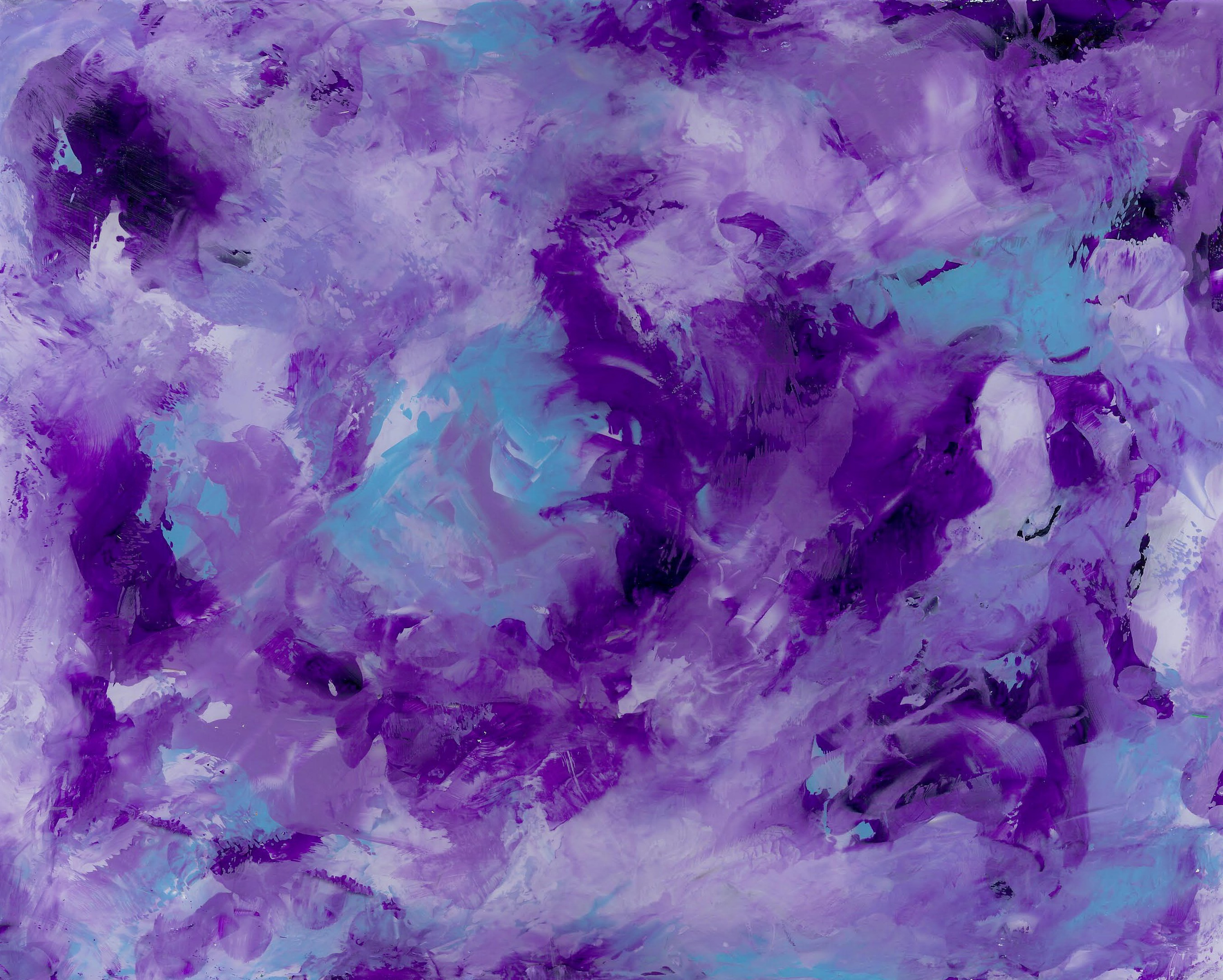 Swirling Purple - Acrylic on Plexiglas 11 X 14 - $125