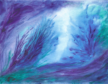 The Blue Reef - Watercolor 10 X 13 - $100