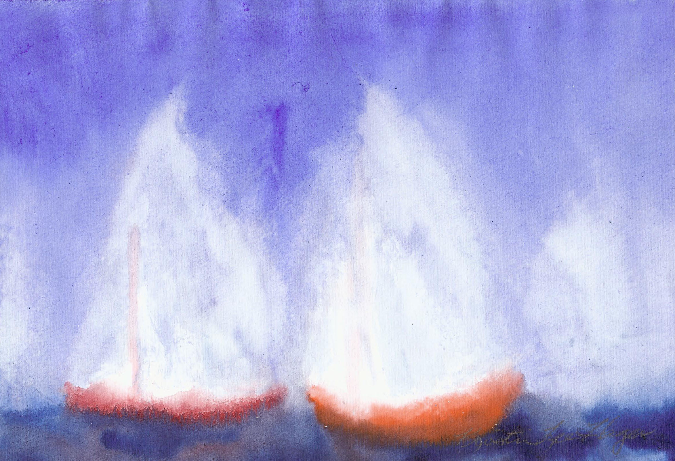 Wind in the Sails - Watercolor 8 X 11 - $125