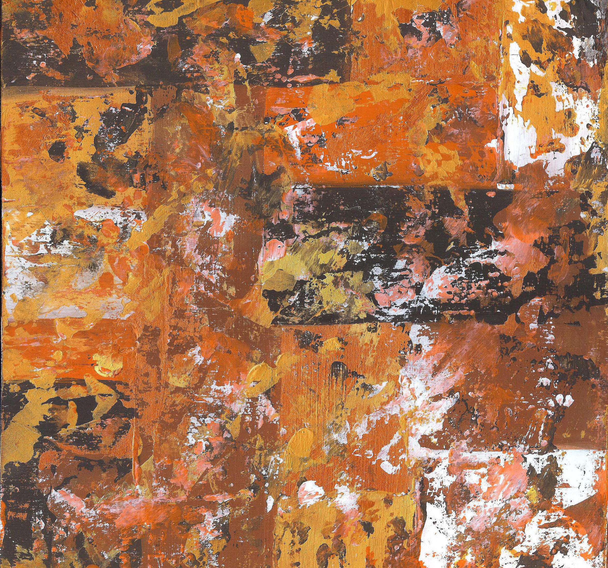 Abstract Autumn - Acrylic - 12 X 12 - Sold - Print Available