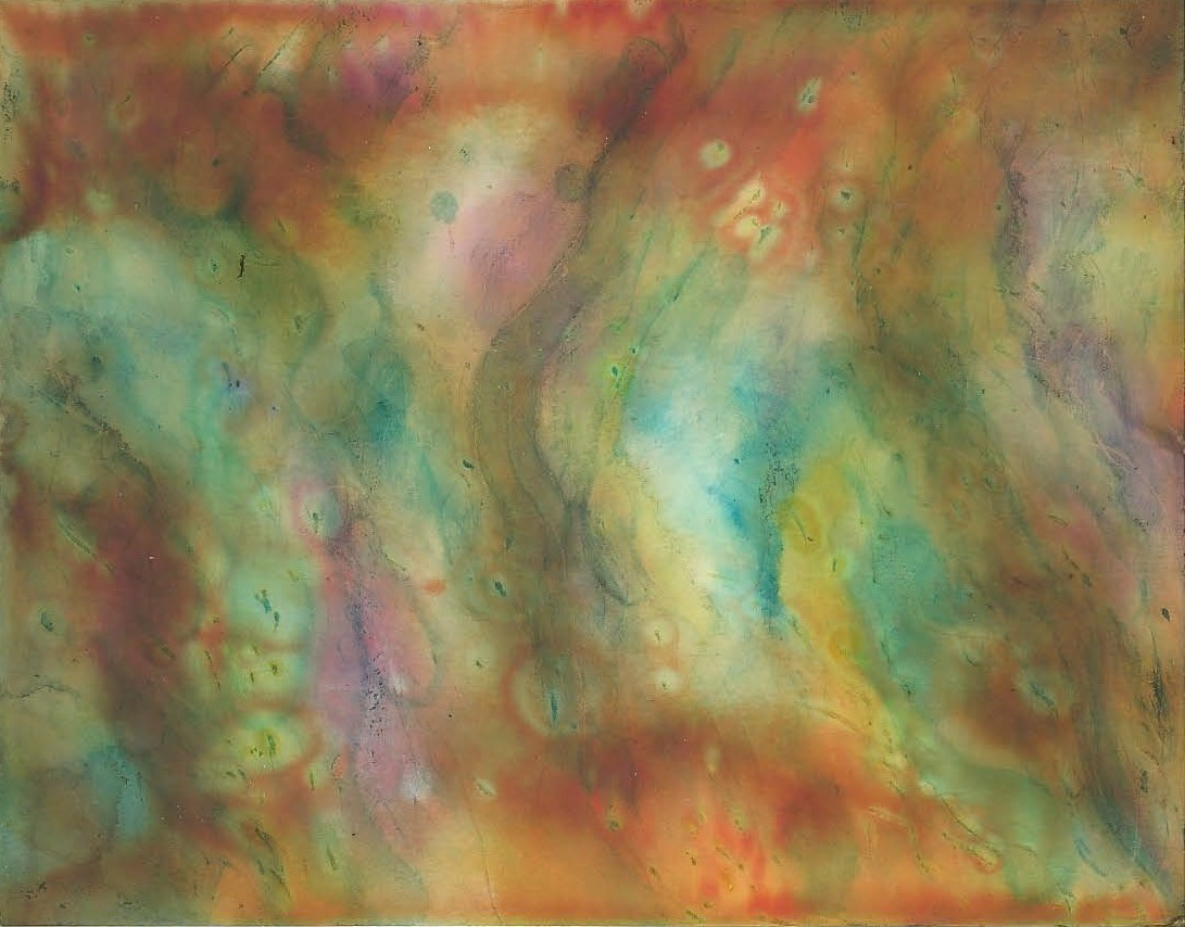 Ocean Currents - Alcohol Ink 4 X 5 - $60