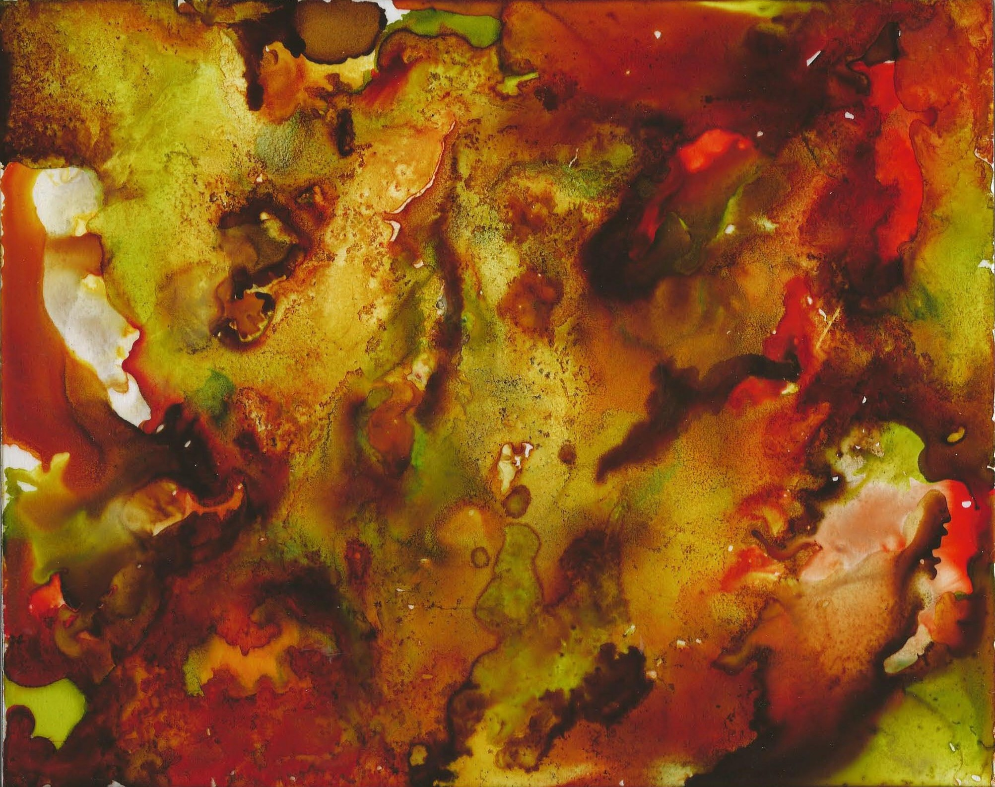 Rustic - Alcohol Ink 8 X 10 - $125