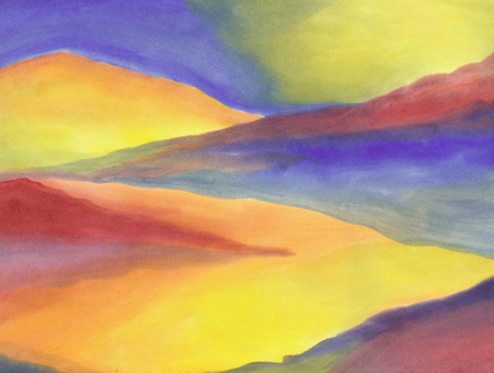 Painted Desert - watercolor 20x25, $400