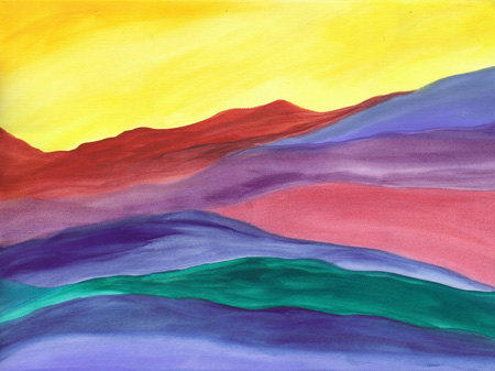 Painted Hills - watercolor 18x24, $250