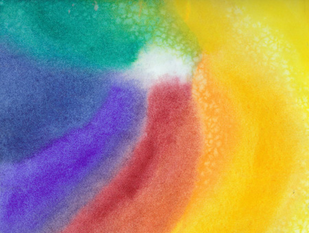 Rainbow Star - Watercolor - 8 X 11 - SOLD - Print Available