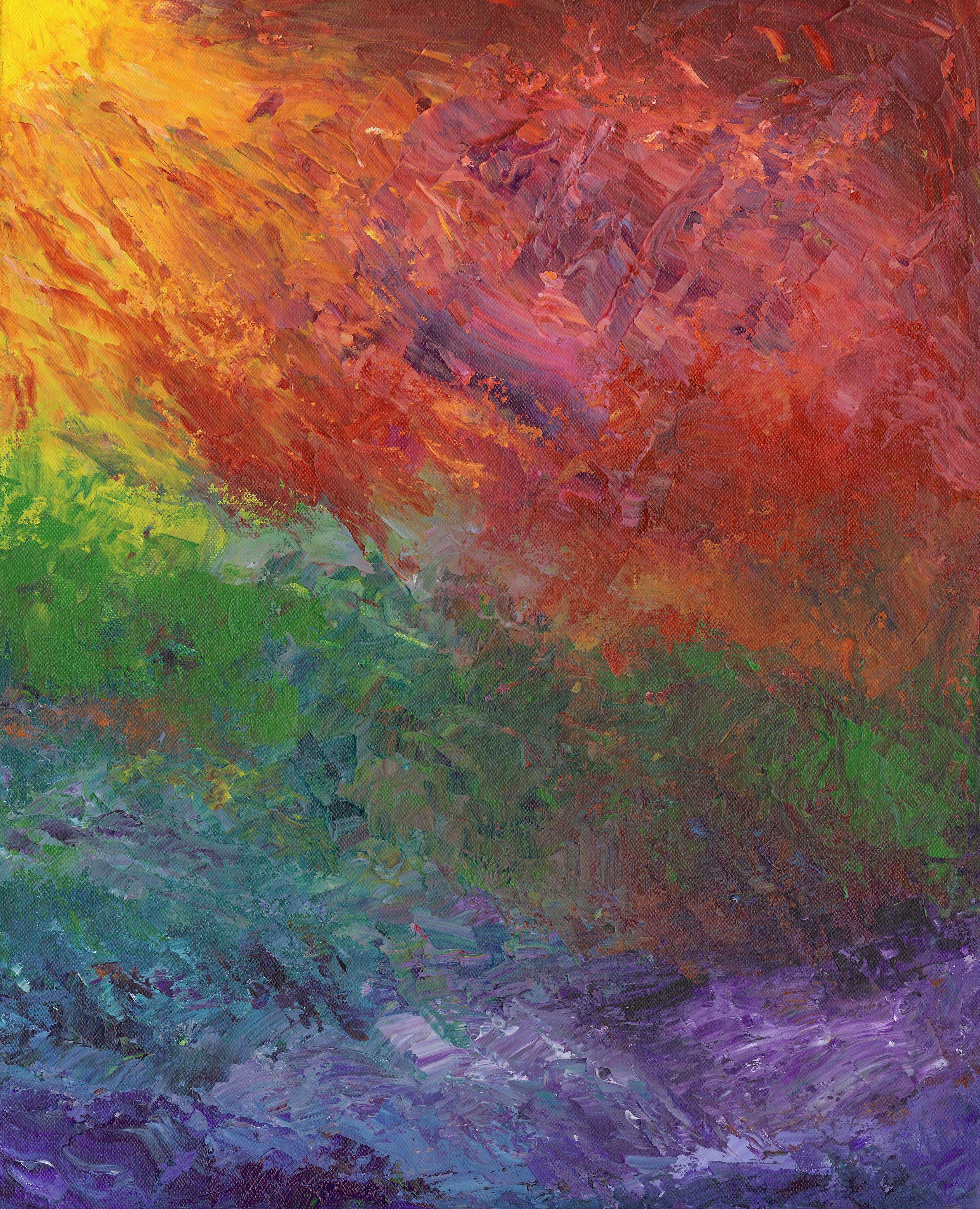 Rising Sun - Acrylic - 16 X 20 - $310