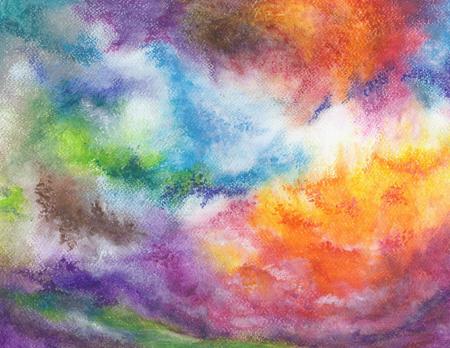 Springtime - oil pastel 10x14, $140