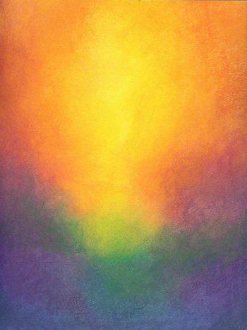 Sunrise - Oil Pastel - 8 X 11 - SOLD - Print Available