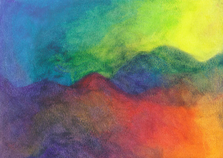 Wild Fire Mountain - Oil Pastel - 9 x 12 - $100
