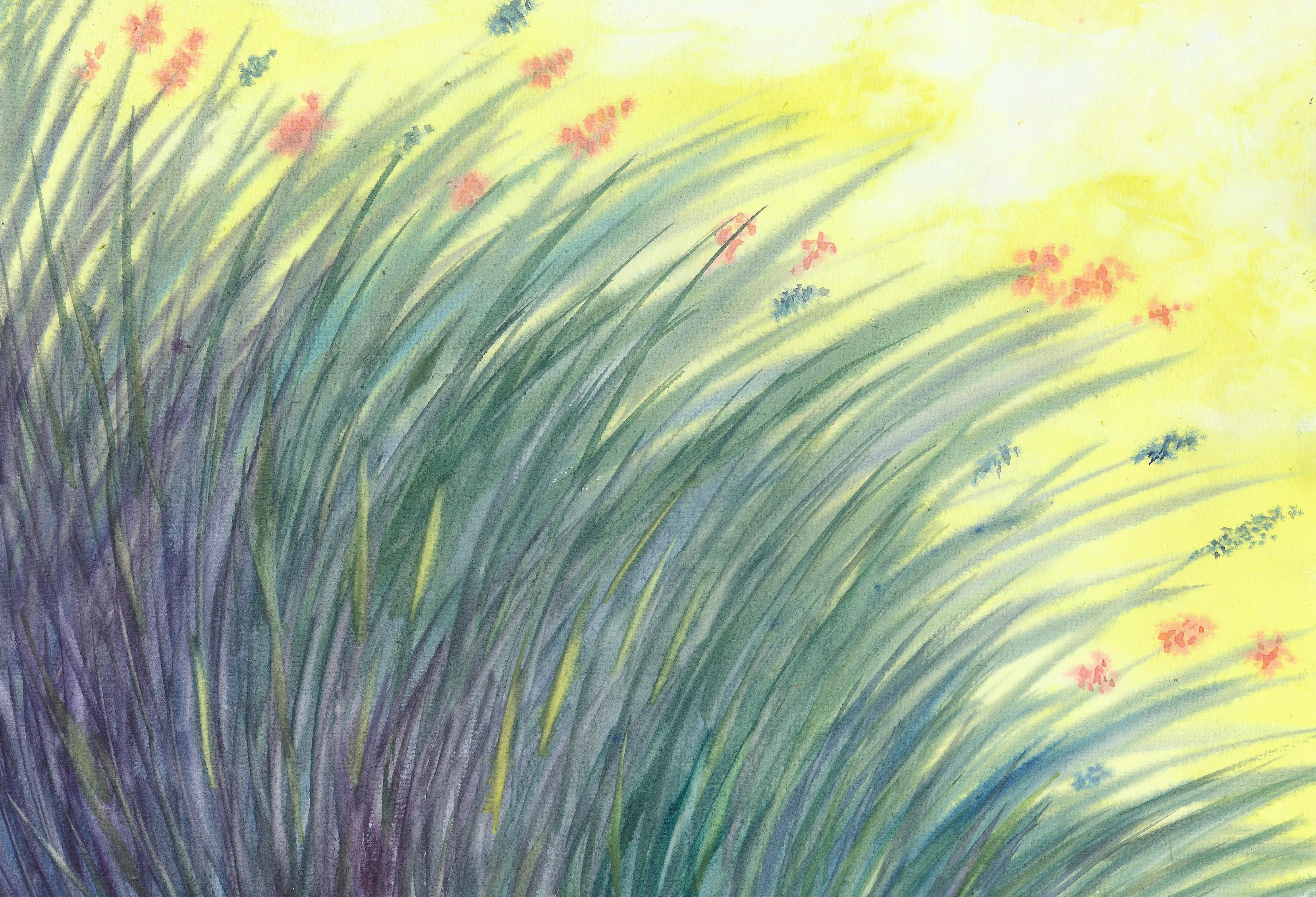 Wildflowers - Watercolor - 12 X 17 - Sold - Print Available
