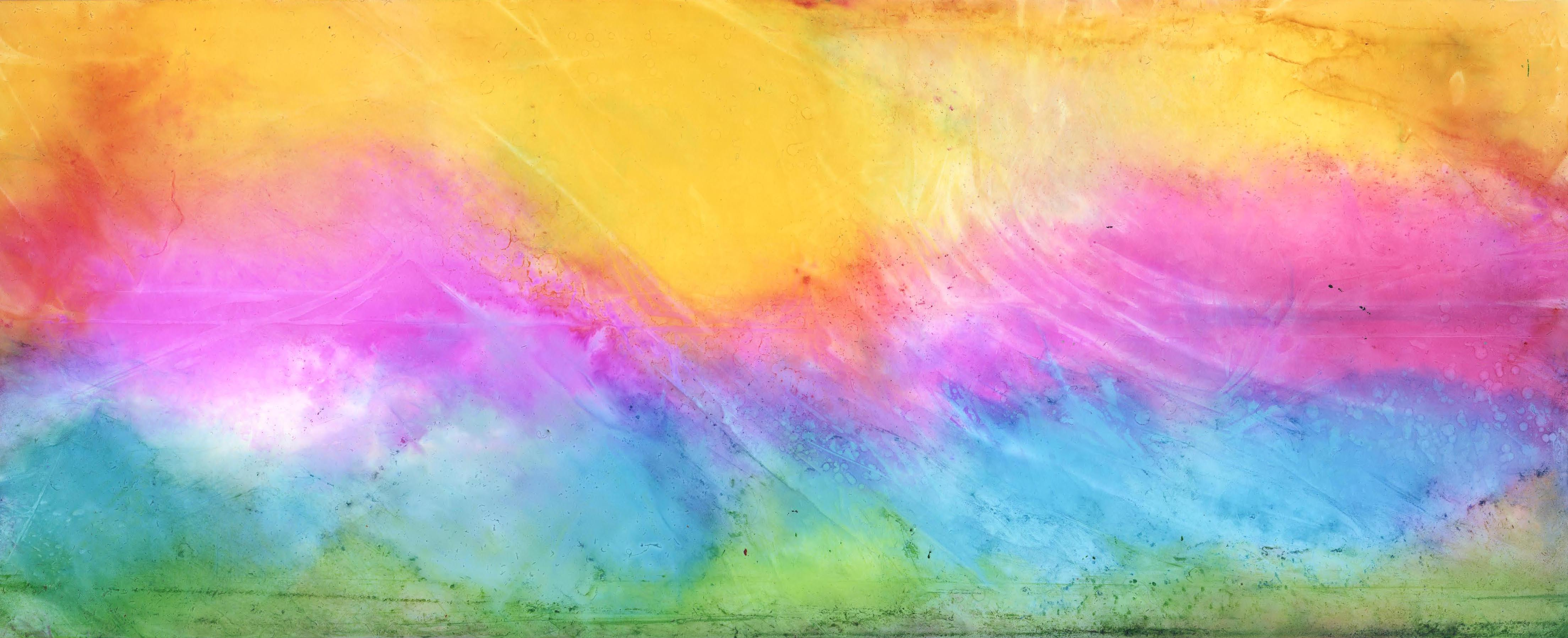 Pastel Landscape - Alcohol Ink - 6 X 15 - $150