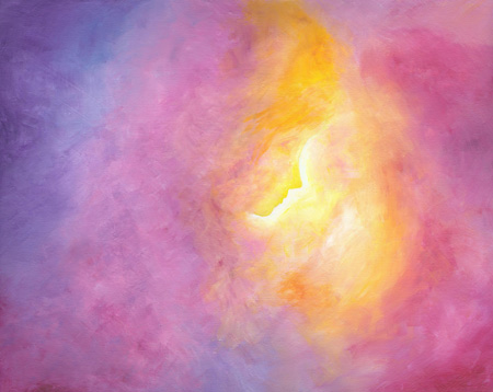 Sun Child - Acrylic - 16 X 20 - Sold - Print Available