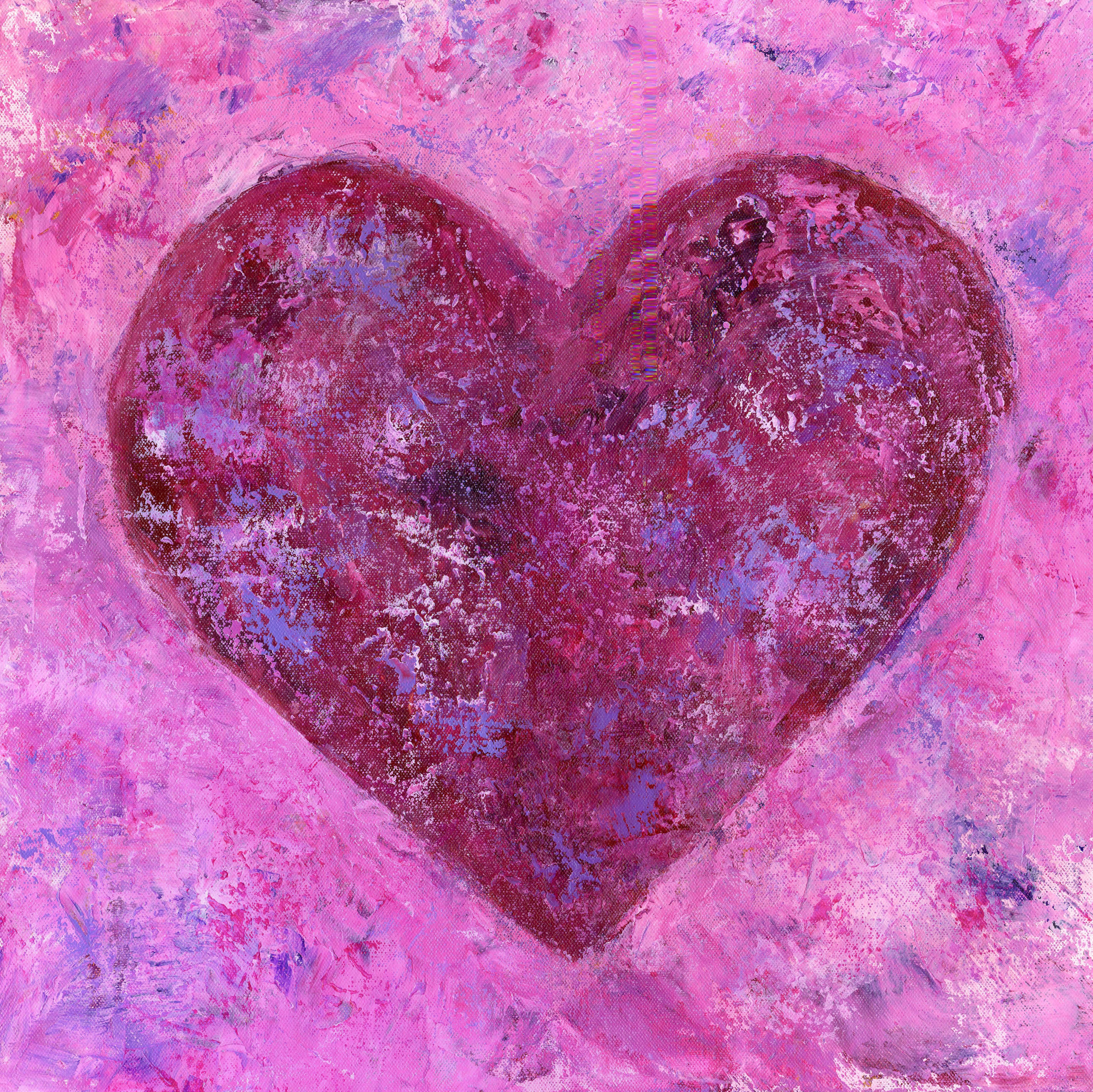 Warm Heart - Acrylic 20 X 20 - $300