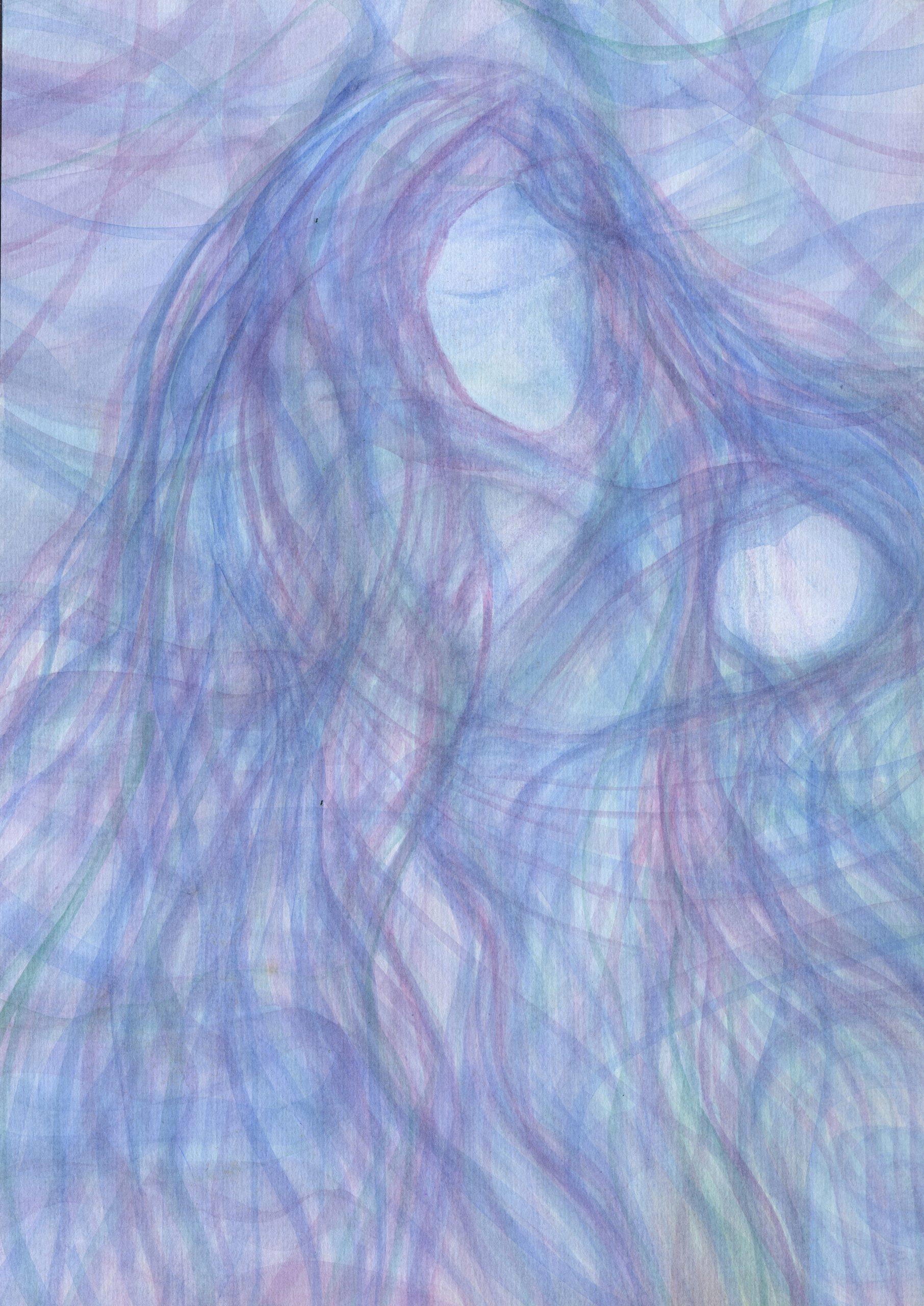 Motherhood - Veil Watercolor Painting - 11 X 15 - $325