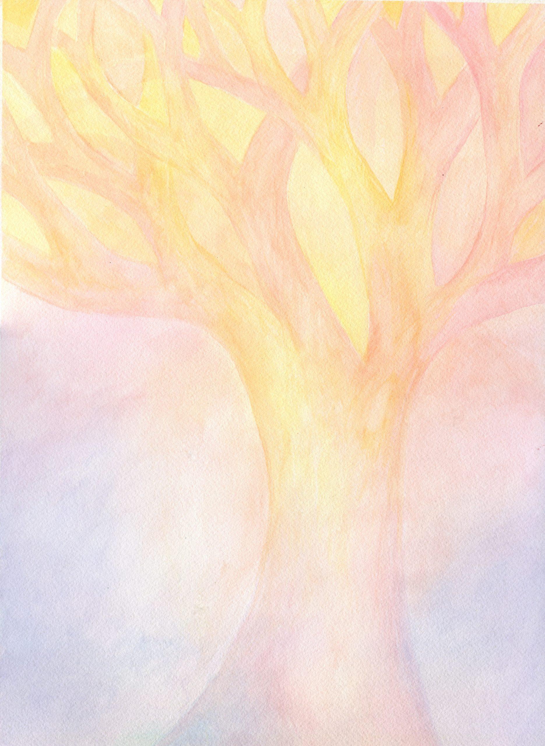 Pastel Tree - Veil Watercolor - 11 X 15 - $225