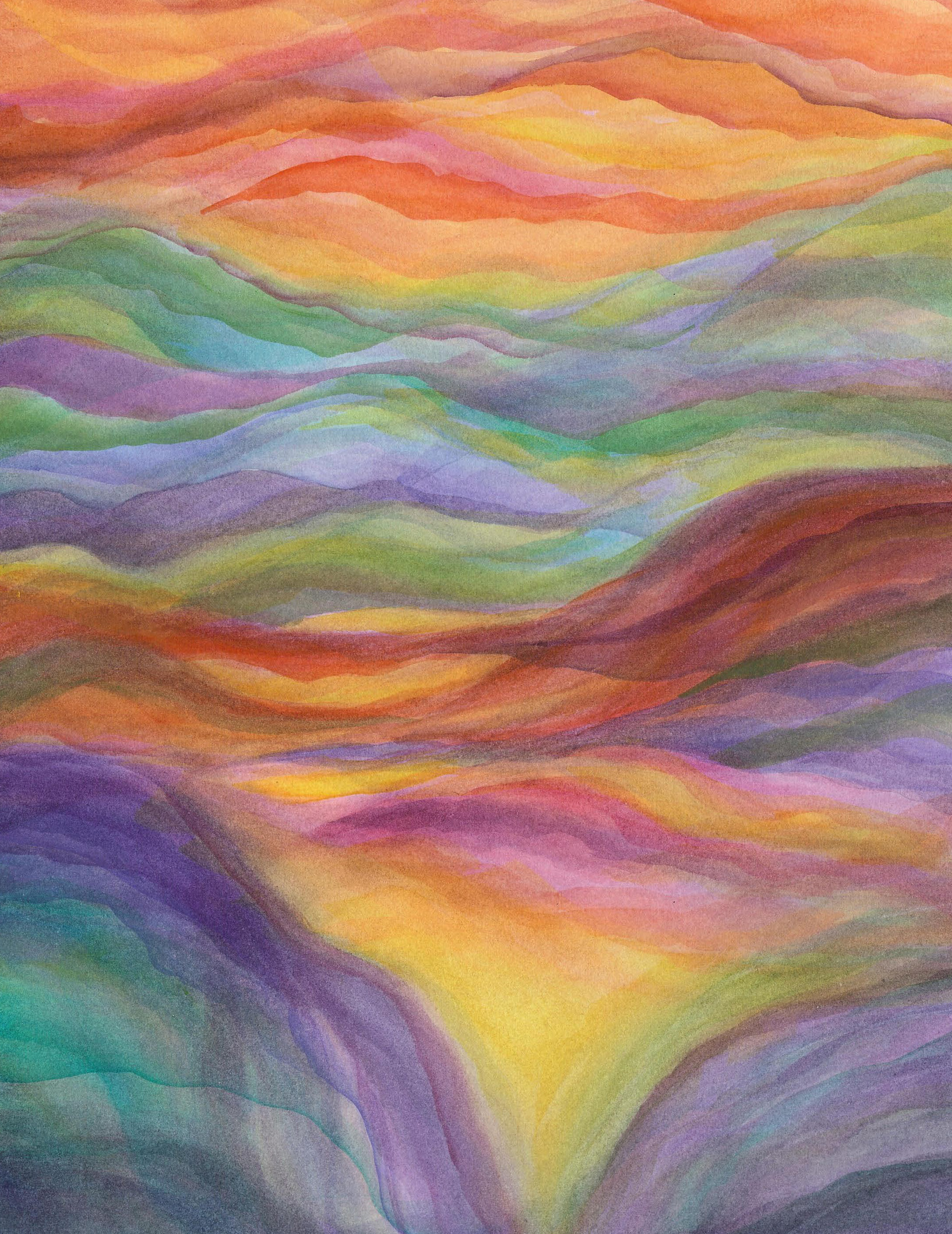 River Valley - Watercolor Veil Painting 12 X 16 - SOLD - Print Available
